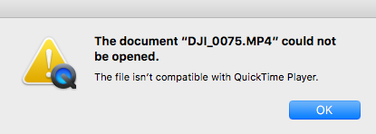 MAC WONT PLAY H 265 FILES! | DJI FORUM