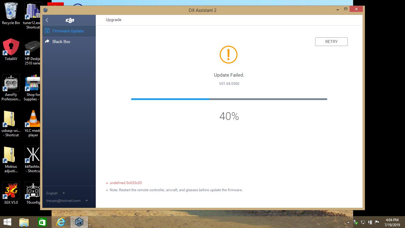 Firmware update error on Mavic Pro-0x020106   DJI FORUM